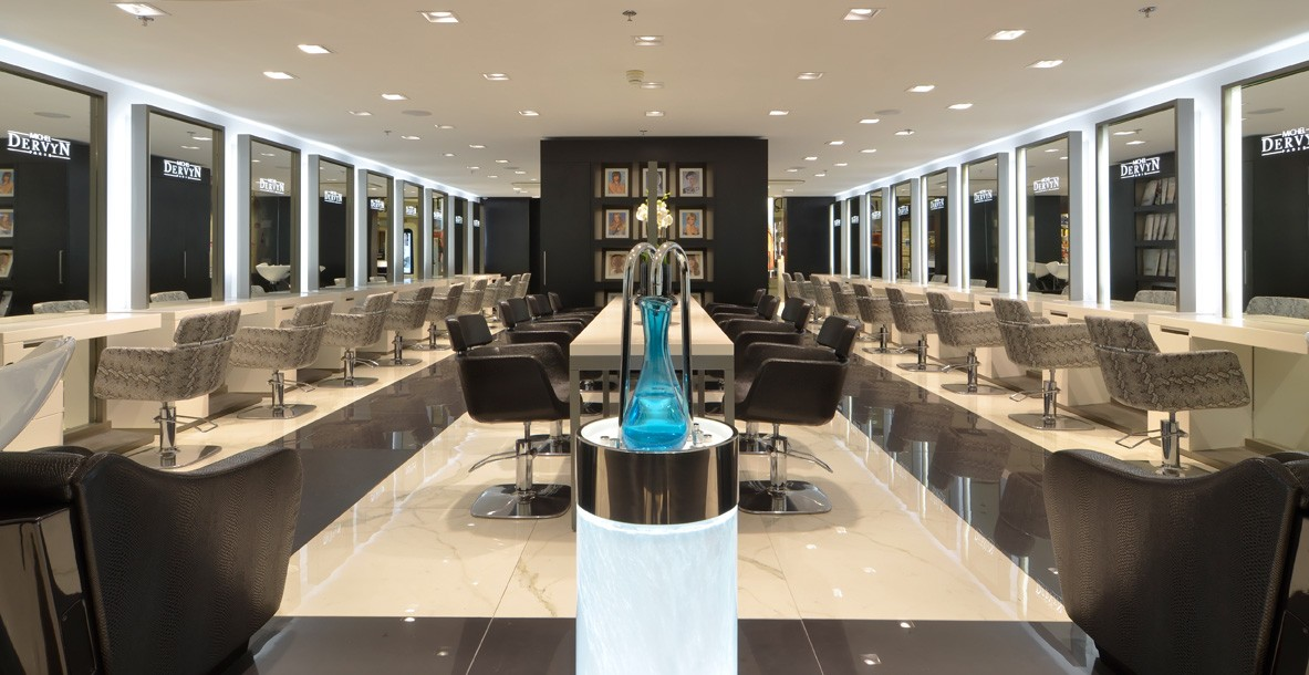 Am nagement d 39 un salon de coiffure agencement esth tique for Salon amenagement